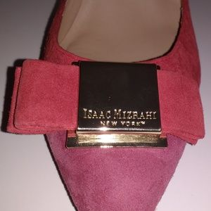 Isaac Mizrahi Islulette D'Orsay suede leather 7.5